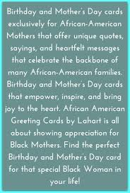 birthday and mother u0027s day cards exclusively for african american