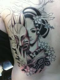 free japanese geisha tattoo design photo 3 photo pictures and