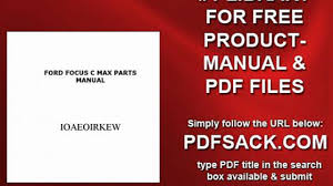 ford focus c max parts manual video dailymotion