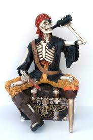 pop art decoration motifs pirates one leg skeleton pirate