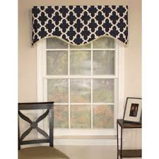 Blue Swag Valance Buy Navy Blue Valances From Bed Bath U0026 Beyond