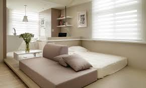 Studio Apartment Bed Ideas Small Living Streamlined Studio Apartment