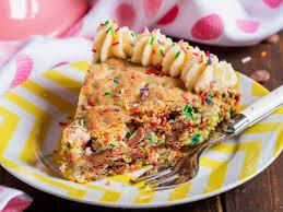 birthday cookie cake funfetti birthday cookie cake s noms