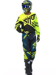 motocross gear sets shot neon yellow 2016 raceway contact mx jersey shot