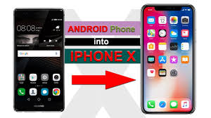 turn android into iphone turn android into an iphone x how to convert your android phone