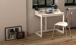 furniture charming minimalist desk with computer and white