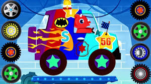 monster truck video download free dinosaur cartoons car driving for kids truck driver cars