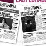 6 free indesign newspaper templates af templates intended for