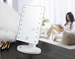 battery operated mirror lights makeup mirror with 16 led lights touch screen dimmable cosmetic