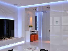 sensational modern led tv wall living room openplan glass doors