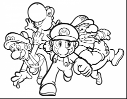surprising super mario coloring pages with mario and luigi