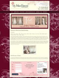 website homepage design miss darcey bridal boutique elegant responsive web design