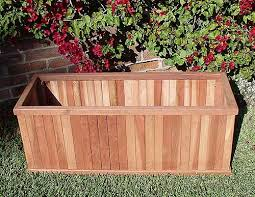 Redwood Planter Boxes by Heavy Duty Redwood Vertical Slat Planter Box