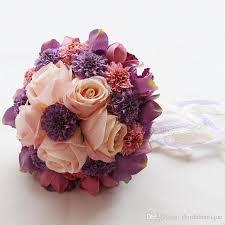 silk wedding bouquets 2018 silk wedding bouquet handmade flowers roses cheap