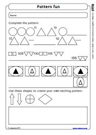 patterns functions and algebra worksheets free worksheets library