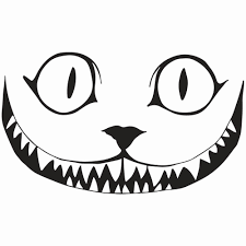 cheshire cat smile coloring pages coloring pages