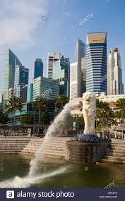 singapore lion singapore asia merlion landmark lion mermaid sculpture