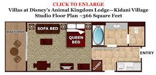 18 animal kingdom villas floor plan kaart walt disney world