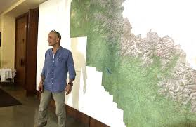 Himalayas On World Map by Indian Adventurer Claims Making World U0027s Largest Trekking Map On