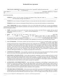 Rent Lease Agreement Template Free rental agreement free template free template for lease