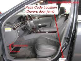 mercedes benz paint code location u0026 name