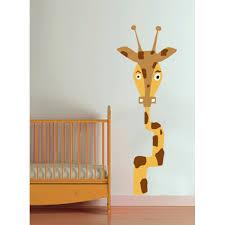 chambre la girafe stickers enfant girafe les animeaux de la jungle
