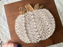 white pumpkin string art fall decor string art pinterest