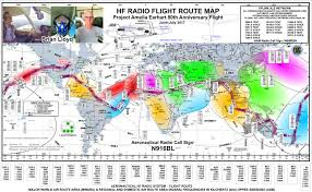 Flight Routes Map by Hflink Brian Lloyd Wb6rqn Round The World Flight Project Amelia