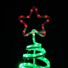 green spiral tree led rope light 120cm decoration