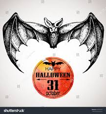 halloween scary bat typographic poster background stock vector