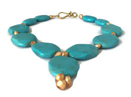 blue turquoise pendant necklace images Blue turquoise necklace december birthstone necklace be jeweled jpg