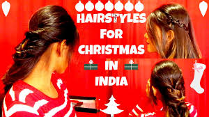 festival hairstyles christmas hairstyles in india youtube