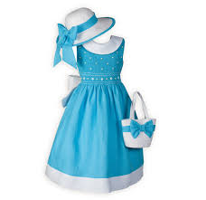 s easter dress turquoise classic smocked matching easter