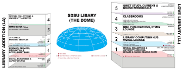 San Diego State Campus Map by Locations U0026 Maps Sdsu Library And Information Access