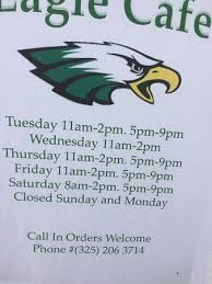 eagle cafe hours phone papas locos big burrito and exterior view