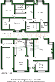 Treehouse Floor Plan Allan Morris Worcestershire Estate Agents Yew Tree House Sale