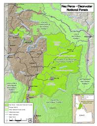 The Forest Map Nez Perce Clearwater National Forests Maps U0026 Publications