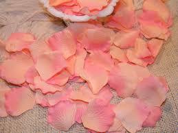 200 bulk petals artificial petals peach and coral