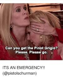 Emerged Meme - can you get the pinot grigio please please go its an emergency