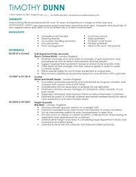 Resume For Retail Job by Retail Cv Examples Cv Templates Livecareer