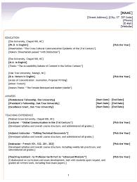 Resume Layout Template Format Resume Formatting