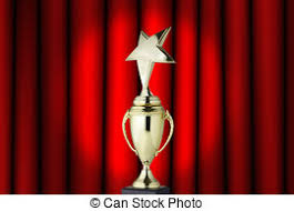 star award on red curtains star award on red curtains or stock