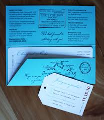 ticket wedding invitations airline ticket wedding invitations emdotzee designs