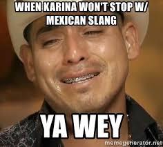 Meme Slang - when karina won t stop w mexican slang ya wey ya wey meme generator
