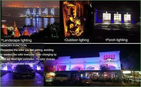 Remote Control Landscape Lighting - lighting zhma rgb led flood light50w 16 colors lights 4