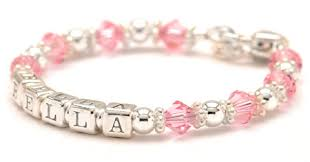 infant name bracelet personalized children s birthstone bracelet letter baby