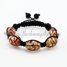 bracelet murano glass images Macrame swirled lampwork murano glass bracelets jewelry armband jpg