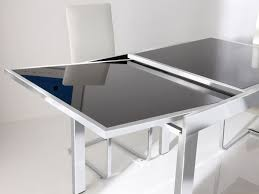 Glass Breakfast Table With Extensions  Decorated Glass Breakfast - Glass dining room table with extension