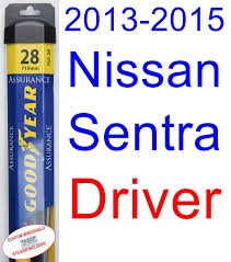 custom nissan sentra 1994 amazon com 2013 2015 nissan sentra replacement wiper blade set