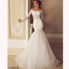 long sleeve mermaid wedding dress long sleeves lace mermaid